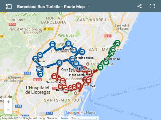 Barcelona hop on hop off Bus Turistic (10% Discount!) 27€  b455bf09e44