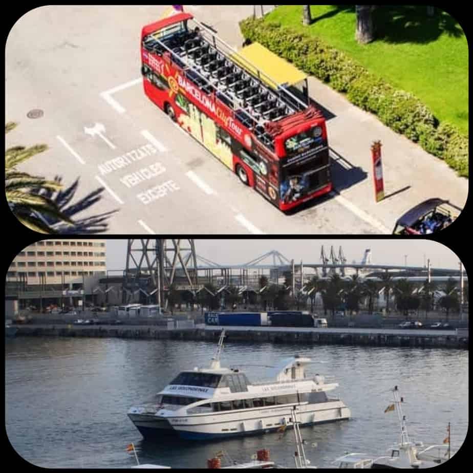 Bus et bateau à arrêts multiples