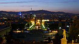 montjuic view magic fountain plaza espanya